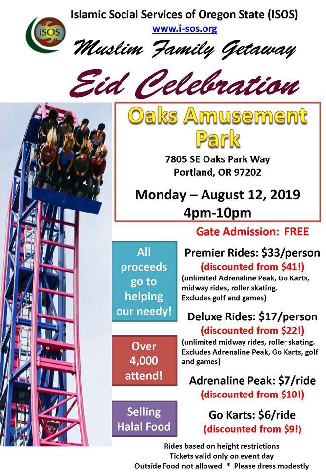 Eid-ul-Adha celebration at Oaks Amusement Park