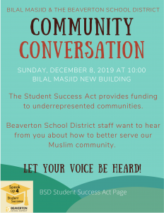COMMUNITY CONVERSATION with BEAVERTON SCHOOL DISTRICT